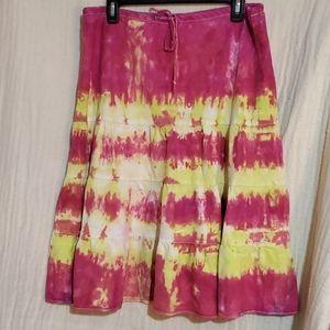 J.Crew Tie-Dye Drawstring Skirt